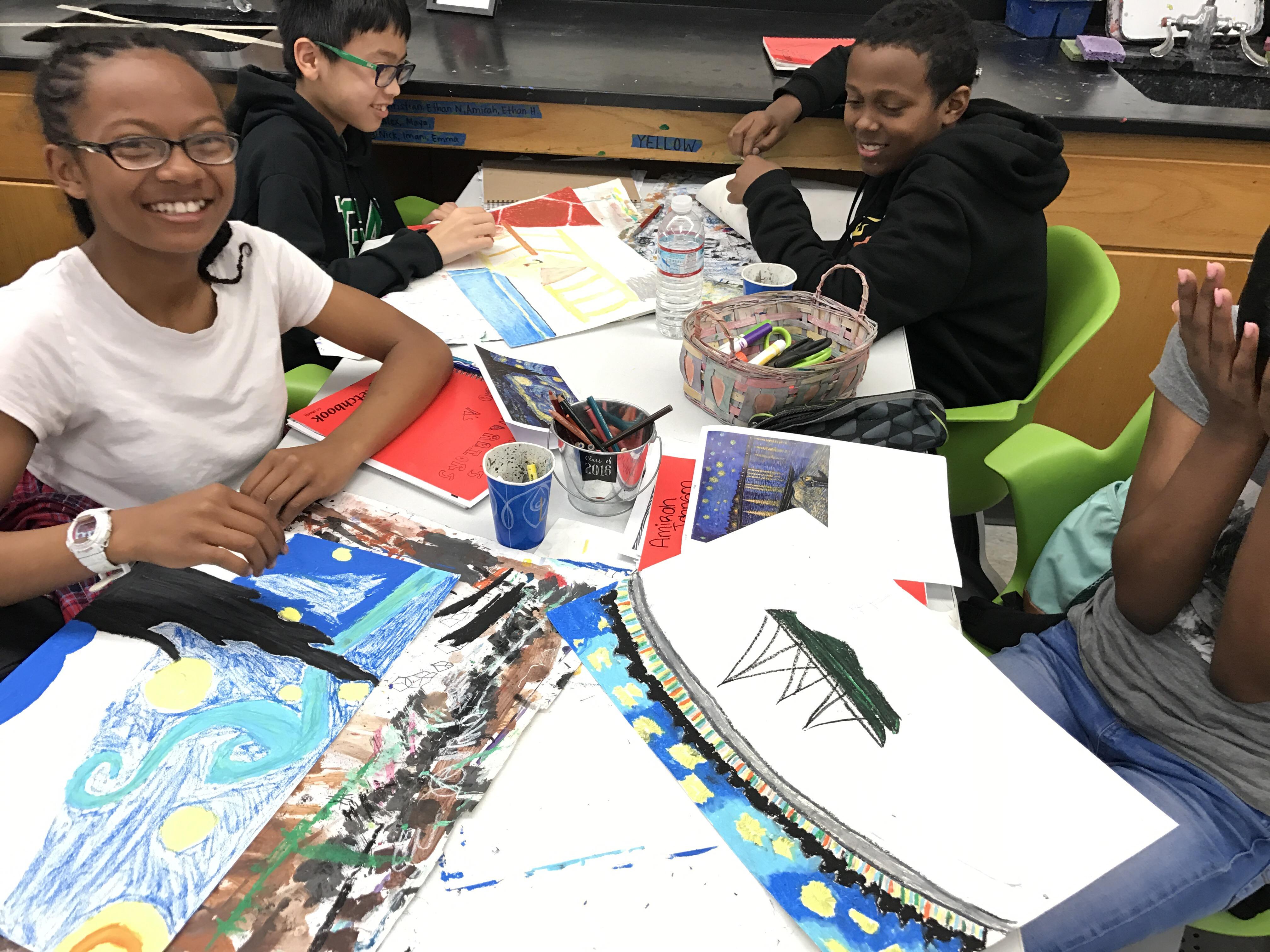Van Gogh Oil Pastel – Middle School Arts Pathway